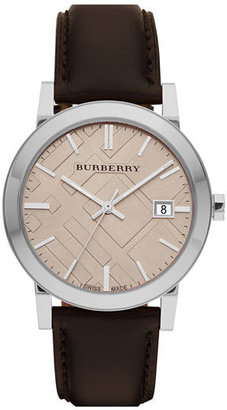 Burberry Check Stamped Round Dial Watch, 38mm $395 thestylecure.com