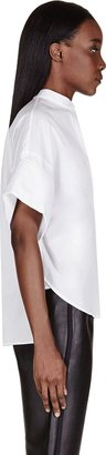 3.1 Phillip Lim White Oversized Rolled Cuff Blouse