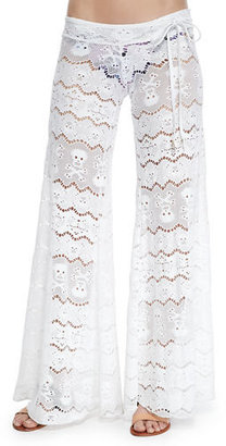 Letarte Wide-Leg Lace Coverup Pants $238 thestylecure.com
