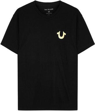 True Religion Black Foil-print Cotton T-shirt