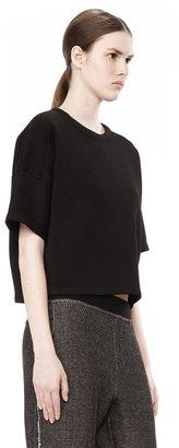 Alexander Wang Scuba Double Knit Short Sleeve Top