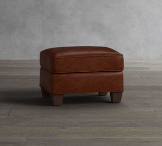 Pottery Barn Irving Leather Storage Ottoman