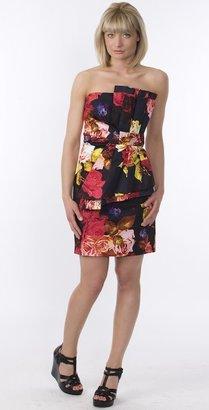 Ted Baker Rosye Print Dress in Black/Multi