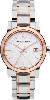Burberry Watch, Women's Swiss Two-Tone Stainless Steel Bracelet 34mm BU9105 $595 thestylecure.com