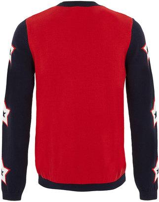 Topman Star Sleeve Pattern Sweater