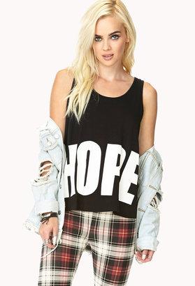 Forever 21 Inspirational Hope Tank