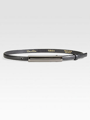 Oscar de la Renta Rectangle Buckle Belt