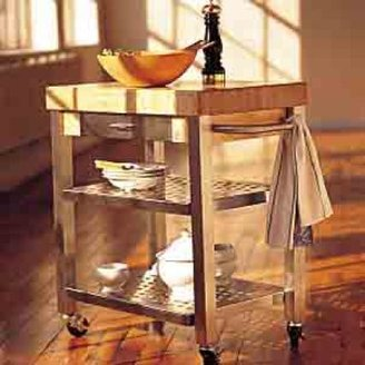 "John Boos & Co.® Maple Kitchen Cart, 30"" x 20"""