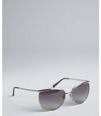 Burberry silver metal sunglasses