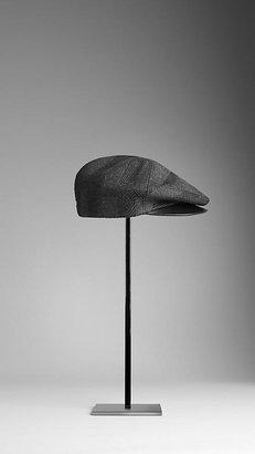 Burberry Check Jacquard Flat Cap