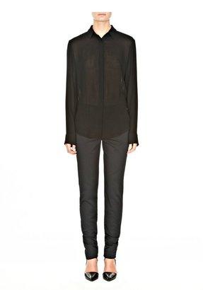 Alexander Wang Long Sleeve Wool Gauze Shirt