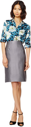 Marc Jacobs Fishnet Satin Highwaisted Pencil Skirt