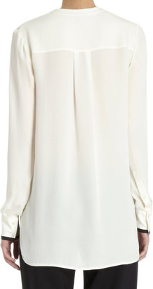 Vince Contrast Tipped Blouse