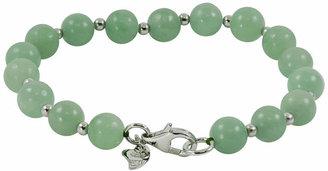 FINE JEWELRY Sterling Silver Jade Bead Bracelet