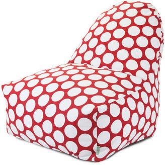LG Electronics Majestic Home Kick-It Chair Red Polka Dots