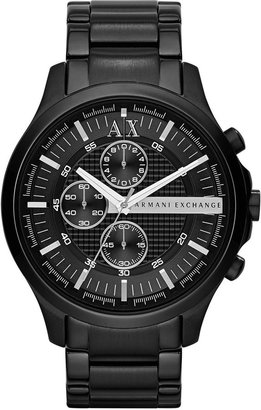 A|X Armani Exchange Men's Chronograph Black Ion-Plated Stainless Steel Bracelet Watch 46mm AX2138 $210 thestylecure.com