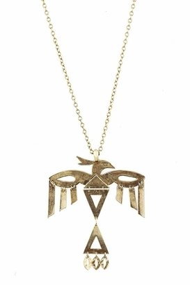Low Luv x Erin Wasson by Erin Wasson Skeleton Thunderbird Necklace in Gold