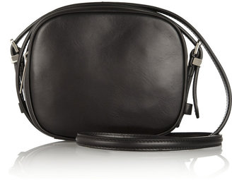 The Row Mini Twin suede and leather shoulder bag