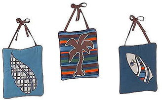 JoJo Designs Sweet Blue and Brown Surf Collection 3-Piece Plush Wall Hanging Set