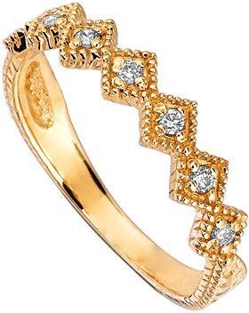 Morris & David Gold and Seven Diamonds Stacking Ring