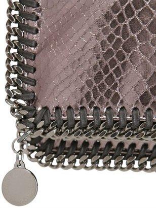 Stella McCartney Metallic Snake Foldover Clutch