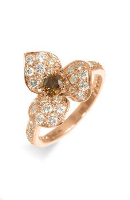 Kwiat Champagne Diamond Flower Ring