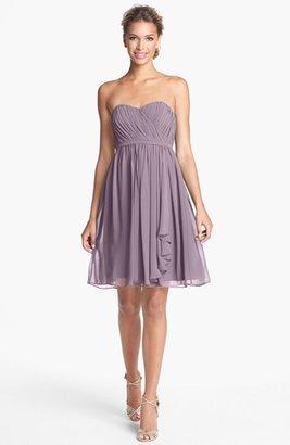 Donna Morgan 'Lindsey' Pleated Sweetheart Neckline Chiffon Dress