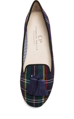 Charles Philip Shanghai Lana Wool Loafers in Scottish Green