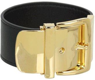 Lauren Ralph Lauren Leather Bracelet w/Buckle (Black) - Jewelry