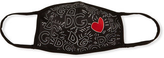 Dolce & Gabbana Reusable Logo & Heart Print Cloth Mask Face Covering