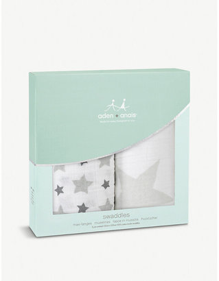 Aden Anais Aden + Anais Set of two Twinkle Twinkle swaddles