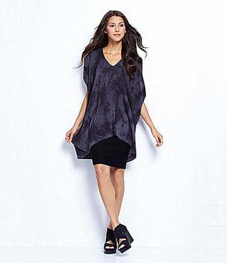 Eileen Fisher Crystalline Silk Shibori Tunic, Scoopneck Long Slim Tank & Crepe Pencil Skirt