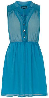 Dorothy Perkins Blue sleeveless shirt tunic