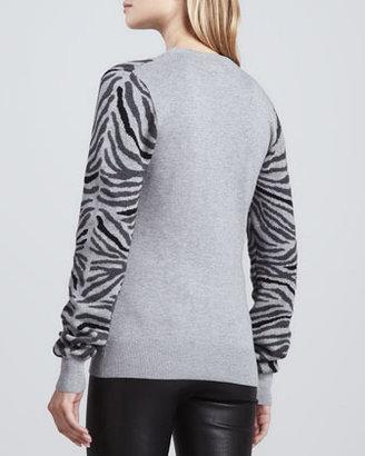 Torn By Ronny Kobo Shauna Zebra-Stripe Sweater