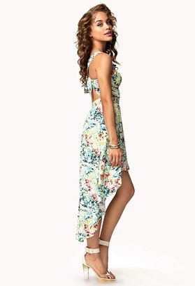 Forever 21 Cutout Tropical Floral Dress