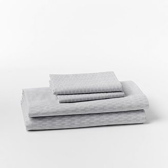 west elm Organic Ikat Stripe Sheet Set