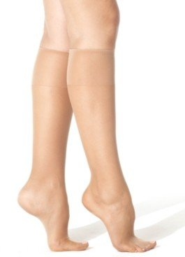 Hanes Women's Silk Reflections Plus Knee Highs Silky Sheers 00P19