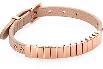 Michael Kors Rectangular Slide Bead Saffiano Leather Bracelet