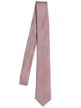 Z Zegna 6cm Micro Check Silk Blend Tie
