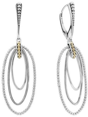 Women's Lagos Caviar 'Superfine' Two-Tone Drop Earrings $295 thestylecure.com