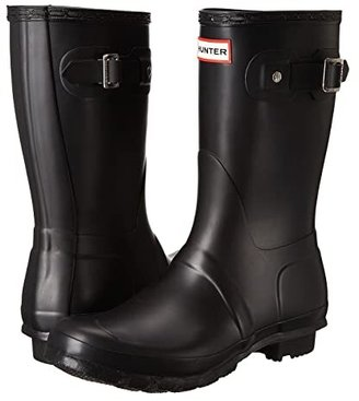 Hunter Short (Black Matte) Women's Rain Boots