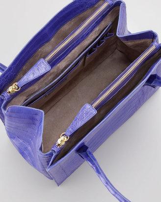 Nancy Gonzalez Crocodile Shoulder Tote Bag, Purple