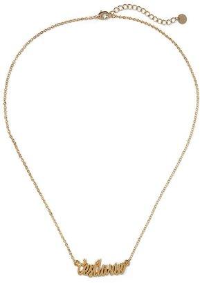 Pim + Larkin C'est La Vie Pendant Necklace