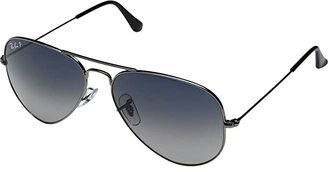 Ray-Ban RB3025 Aviator 58mm Large Metal Polarized (Grey Blue/Gunmetal) Metal Frame Fashion Sunglasses