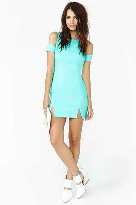 Nasty Gal Shadow Cut Dress - Mint