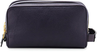 Tom Ford Double-Zip Toiletry Bag, Purple