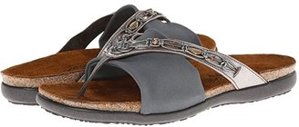 Naot Footwear Jennifer (Brushed Black Leather/Black Velvet Nubuck/Black Stretch) Women's Sandals