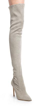 Ralph Lauren Tasita Stretch Suede Over-The-Knee Boots