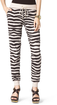 Michael Kors Zebra-Print Terry Pants