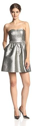 Aidan Mattox Aidan by Women's Strapless Gold Party Dress
